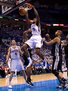 Serge Ibaka showin' what Nasty really looks like! Thunder vs. Spurs: Game 4 - 6/2/12   THE OFFICIAL SITE OF THE OKLAHOMA CITY THUNDER
