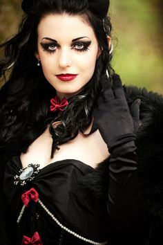 Gothic. Love the make up! The shaping around the eyes is awesome