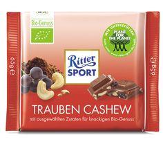 RITTER SPORT Bio Trauben Cashew Schokolade