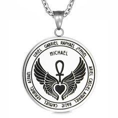 Archangel Michael colgante collar con cuentas Cordón Talismán Sigil evocación