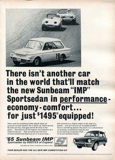 1965 Sunbeam IMP Sportsedan Advertisement Road & Track February 1965 | Flickr - Photo Sharing!