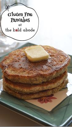 "For those who can't have gluten. Can anyone say ""post-workout treat?"" - Gluten Free Pancakes made with 3 Gluten Free Flours"