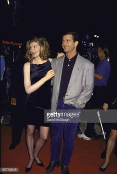... Actors Rene Russo and Mel Gibson at film premiere of their Lethal Weapon 3 ...