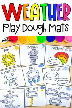Weather Play Dough Mats - Playfully Primary