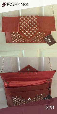 MMS clutch New clutch with gold chain and gold studded design. Tags still attached MMS Bags Clutches & Wristlets