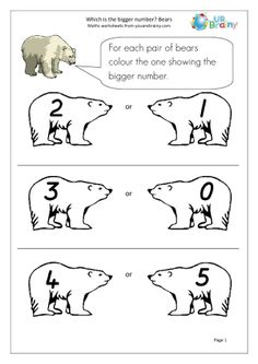 Polar Bears Are Big Animals But They Need Help In Deciding Which Is The Bigger Number On Each Pair Of Once Again We Keep To Very Small Numbers