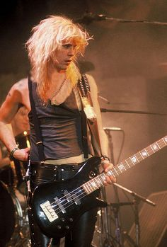 Duff McKagen. My fave Guns-n-Roses member. Tall, blond, & crazy