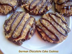 Flavors by Four: German Chocolate Cookies-I want to make a vegan version of these!