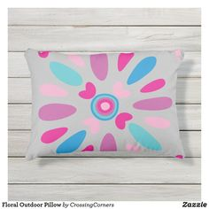 Floral Outdoor Pillow Soft Pillows, Throw Pillows, Outdoor Pillow, Business Supplies, Party Hats, Funny Cute, Soft Fabrics, Birthday Parties, Art Pieces