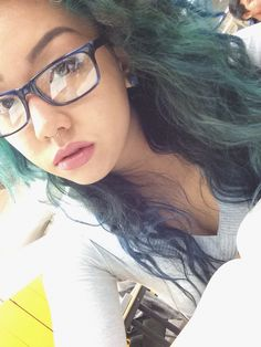 faded teal green hair