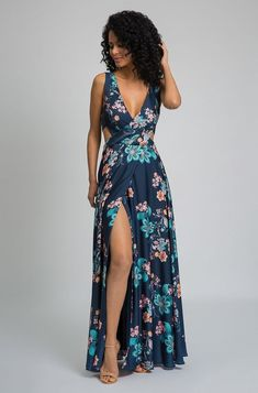 Fabulous Dresses, Cute Dresses, Casual Dresses, Classy Outfits, Pretty Outfits, Dress Outfits, Fashion Dresses, Floral Print Maxi Dress, Look Fashion