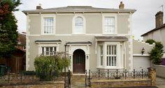 Best exterior paint colors for house gray stone farrow ball Ideas Exterior Masonry Paint, Best Exterior Paint, Exterior Paint Colors For House, Grey Exterior, Paint Colors For Home, Exterior Colors, Victorian Homes Exterior, Georgian Homes, Style At Home