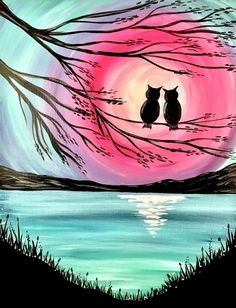 Join us for a Paint Nite event Sun Feb 2017 at 1502 Annapolis Road Odenton, MD. Purchase your tickets online to reserve a fun night out! Simple Canvas Paintings, Easy Canvas Painting, Diy Canvas Art, Beautiful Paintings, Composition Photo, Oil Pastel Art, Silhouette Painting, Cool Art Drawings, Belle Photo