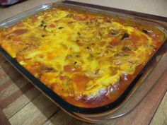 Bobotie, a proud South African recipe.  Have a look at the recipe on my blog.