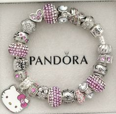 New Authentic Silver Pandora Bracelet Sanrio Hello Kitty Love Heart Charms | eBay