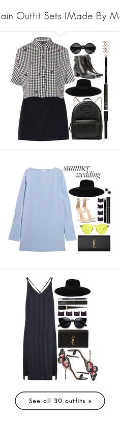 """""""Plain Outfit Sets (Made By Me)"""" by laurenbeth15 ❤ liked on Polyvore featuring Topshop, Gucci, Maison Michel, Yves Saint Laurent, Smashbox, NARS Cosmetics, Givenchy, topshop, saintlaurent and maisonmichel"""
