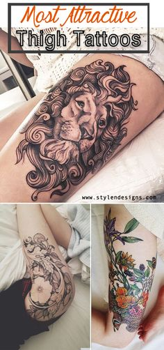 awesome 21 Most Attractive Thigh Tattoos For Women