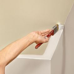 Lap Your Cut-In Onto the Walls - If you're planning to paint the walls too, lap the paint onto the walls a little bit. Then when you paint the walls, you can err on the side of leaving a little ceiling color showing when you cut in and it won't be noticeable. Some painters like to skip this cutting-in step and save time by mashing the roller into the corner instead, but this method is sloppy, builds up excess paint in the corner and can leave runs or a thick paint line on the wall.