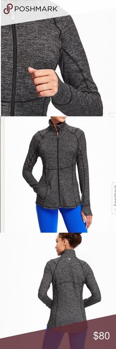 BRAND NEW Compression workout jacket for women Size small---- all who wear a size 0-4, this should fit 👌🏽🙋🏻 This is NOT Lululemon brand  but everyone always thinks it is!! Has cute thumb holes just like lulu lululemon athletica Jackets & Coats