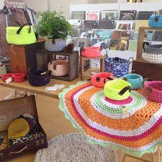 #crochet xxl #labores #ganchillo #cestos y #alfombras de #trapillo
