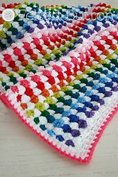 Doesn't this blanket look like wee little cupcakes? Make this sweet and textured blanket for a little one or use the included instructions to make one for yourself or as a gift. Works up quickly with lots of options for busting your stash and making it your own to suit your style and space.