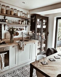 Our kitchen remodeling designs will add style and function to your home. View these kitchen remodel ideas to get inspired for your kitchen makeover. Boho Kitchen, New Kitchen, Kitchen Ideas, Kitchen Jars, Art For The Kitchen, Kitchen Inspiration, Rustic Kitchen, Parisian Kitchen, Country Kitchen Island