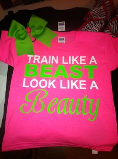 Items similar to Cheer bow matching beast beauty shirt on Etsy Cheer Coaches, Cheer Mom, Cheer Hair, Softball Shirts, Cheer Shirts, Cheer Someone Up, Cheer Dance, Dance Comp, Train Like A Beast