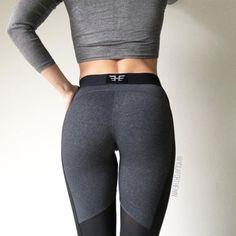 Active High-Waisted Elastic Waist Hit Color Yoga Pants For Women
