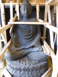 Balinese Sitting Buddha Water Feature Fountain Statue & Base Cement Casting
