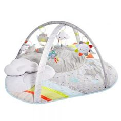Skip Hop Silver Lining Cloud Activity Gym - Activity Mat with 17 developmental activities, Tummy Time, and a Soft Play Mat. Baby Activity Gym, Activity Mat, Activity Centers, Activity Board, Sensory Toys, Tummy Time, Infant Activities, Baby Registry, Baby Items