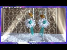Handmade Wedding Glasses DIY Taças Noivo e Noiva - YouTube