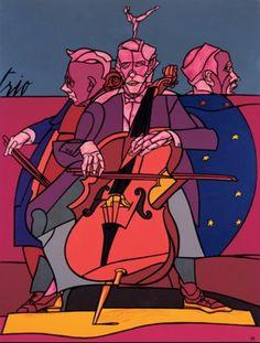 Valerio Adami, Trio, 1994