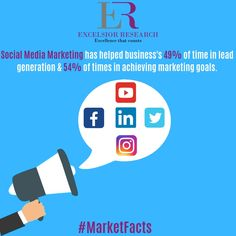 """B2B Business's using social media marketing for Lead Generation & also for achieving their Marketing Goals."" #marketfacts #excelsiorresearch #b2b #b2bmarketing #b2bleadgeneration #b2bmarketers #socialmediamarketing #facebookmarketing #linkedinmarketing #instagram #twitter"