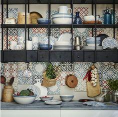 meuble mural Ikea + carrelage