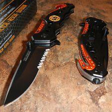 TAC-FORCE Spring Assisted Opening EMT EMS ORANGE Rescue Folding Pocket Knife NEW
