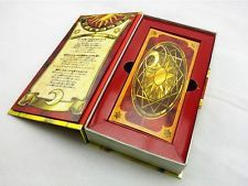 Book of Clow. I prefer the cards with the purple background like in this link. http://www.ebay.com/itm/Anime-56-Piece-Cardcaptor-Sakura-Clow-Cards-Set-With-Gold-Clow-Book-New-in-Box-/221803326650