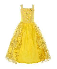 77a706ce08acd ReliBeauty Girls Sleeveless Sequin Princess Belle Costume... https://www.