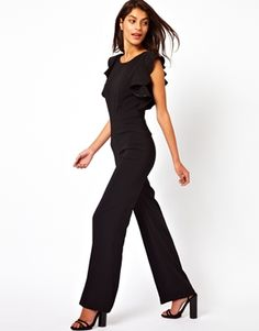 Image 1 of ASOS Jumpsuit With Ruffle Back