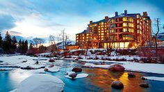 The Westin Riverfront #Resort and Spa in #Avon, #Colorado, rises along the edge of the Eagle River, and is connected by gondola to Beaver Creek #Resort.  Find the best Hotels and Restaurants, Visit: tripken.com