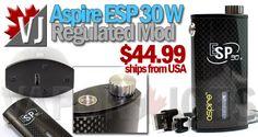 SEXY! – Aspire ESP 30W Regulated Mod – $44.99 from USA