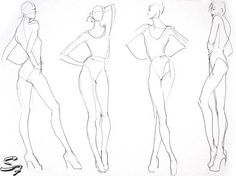 Fashion Model Sketch and Croquis for Newbie