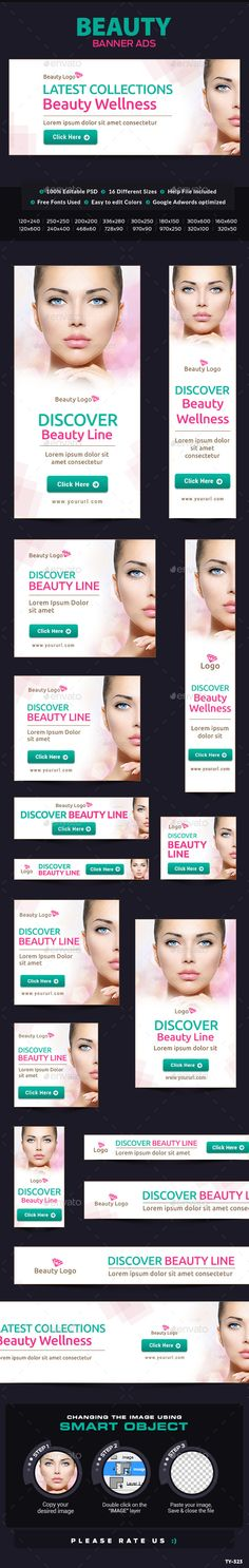 Beauty Banners #banners #beautybanners Download: http://graphicriver.net/item/beauty-banners/10524352?ref=ksioks