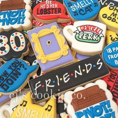 Friends theme for a 30th! #decoratedcookies #sugarcookies…