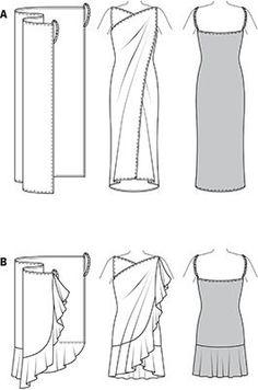 [DIY Swim Wrap Dresses] plage @ Do It Yourself Pins