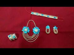 How to make necklace , earrings, kangan and kamarbandh for bal gopal Bead Jewellery, Beaded Jewelry, Janmashtami Decoration, K Necklace, Laddu Gopal Dresses, Little Krishna, Bal Gopal, Ladoo Gopal, Flower Ornaments
