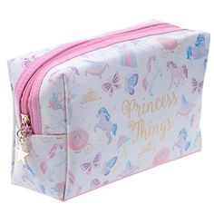 Handy PVC Make Up Toilette Wash Bag - Unicorn PrincessIf you like your gifts funky and practical then look no further than our range of make bags and purses.Made from a durable fabric these are ideal for kids and adults of all ages. Sac Week End, Unicorn Princess, Christmas Stocking Fillers, Girly, Cute Unicorn, Wash Bags, Clutch, Gift Store, Toiletry Bag