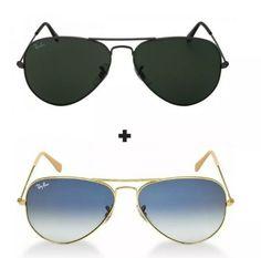 Ofertas imperdíveis 2 óculos Ray ban frete grátis para todo o Brasil. 4684f61865