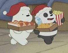 Awww look At pan pan and ice bear snacking without frizz   Ice Bear We Bare Bears, We Bear, Cute Disney Wallpaper, Cute Cartoon Wallpapers, Cartoon Cartoon, Vintage Cartoons, We Bare Bears Wallpapers, Bear Wallpaper, Wallpaper Backgrounds