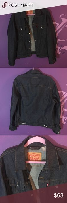 Levi's men's denim jacket jean large extra large @levis men's denim jacket!! Perfect condition. Ready to wear. Size L/XL 🕶🕶🕶 Perfect for the denim lover in your life!!  LINK IN BIO!!! @levis.vintage.clothing  #levis #denim #denimjacket #jeanjacket #bluejean #mensclothing #mensfashion #jacket #coat #menswear #mensstyle #fashion #forsale #depop #poshmark #ebay #smallbusiness #blackowned #vintage #retro #luxury #expensive Levi's Jackets & Coats
