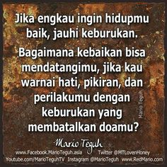 Mario Teguh Mario Quotes, Doa, Positive Thoughts, Cool Words, Poems, Positivity, Allah, Muslim, Nice